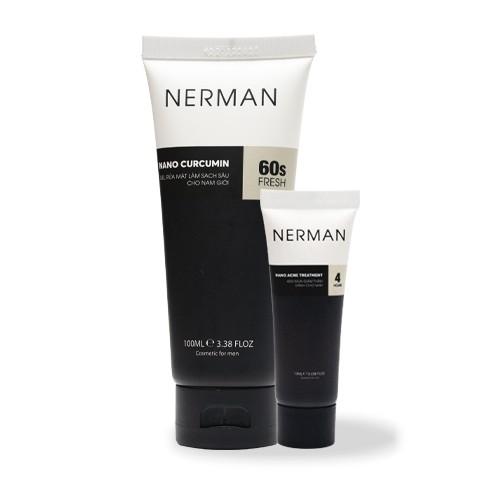 Combo trị mụn dành cho nam giới Nerman Anti-Acne